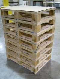 guide and gripper side indication on the  lenticular pallets Photo DPLenticular.com