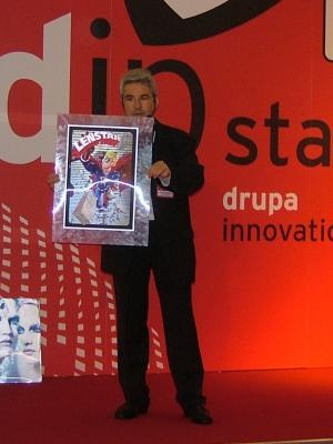 Daniel Pierret during a dip presentation in drupa innovation park Copyright DPL formerly LPC Europe
