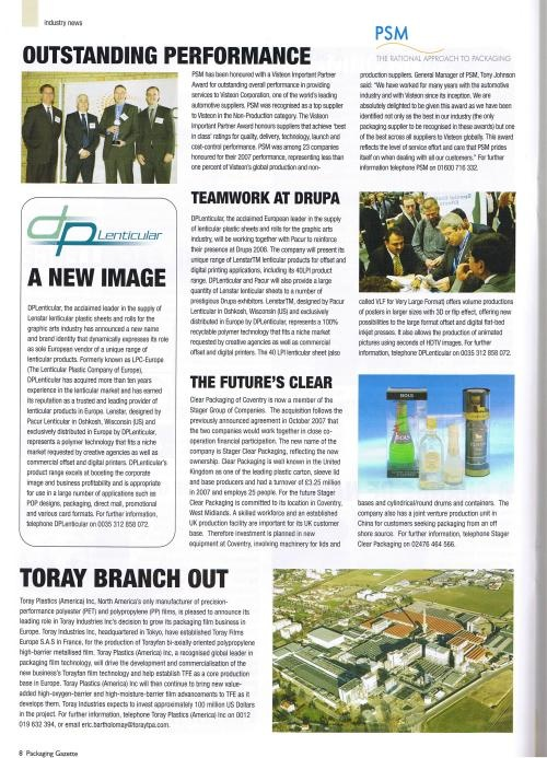 Pacakging Gazette UK