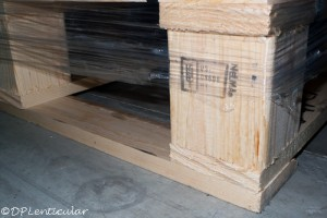 new pallets for Pacur lenticular sheets © DP Lenticular.com