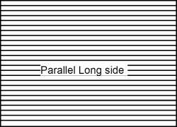 lenticular sheet parallel to long side