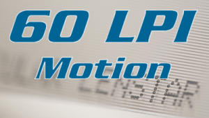 Motion 60 LPI Lenstar Plus lenticular sheet