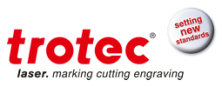 Trotec laser flatbed cutting
