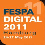 Fespa 2011 showing lenticular digital print