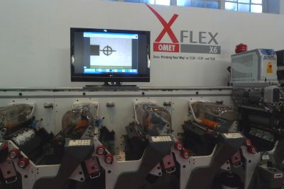 Omet X-Flex flexographic printing press lenticular