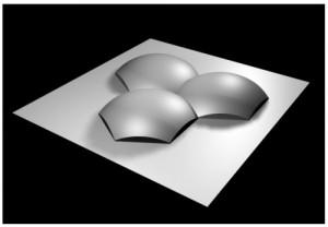 Microlux hexagonal fly's eye lens array