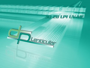 3D 28 LPI UV-MF lenticular sheet