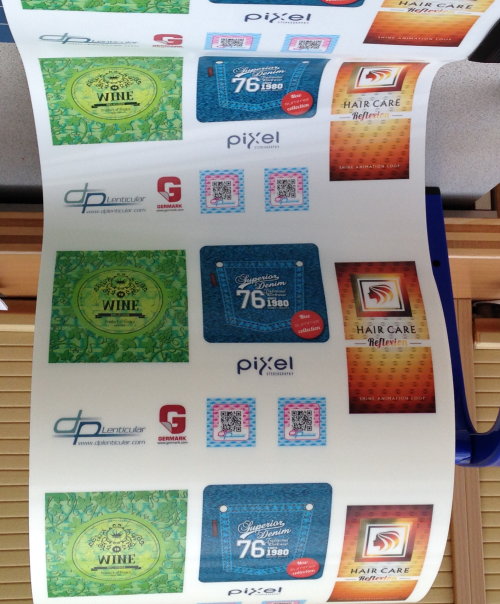 MicroFlex lenticular labels printed sample