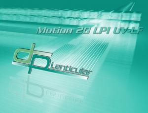 Motion20 LPI UV-LF lenticular sheet